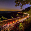 linn cove viaduct at night