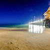 midnight at nags head pier and beach scenes