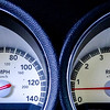 modern car speed meter, racing style