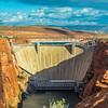 lake powell dam and bridge in page arizona
