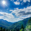 Great Smoky Mountains National Park on north carolina tennessee line