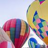 Colorful hot air balloons at festival