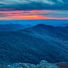 sunset view over blue ridge mountains