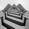 zig zag spiral stair on highrise building emergency exit
