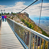 on top of grandfather mountain mile high bridge in nc