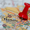 mobile alabama city pin on the map