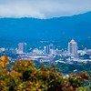 view of roanoke city from blue ridge parkway