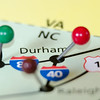 durham north carolina pin othe map