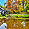 Virginia's Mabry Mill on the Blue Ridge Parkway in the Autumn season