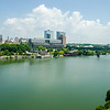 Views of Knoxville Tennessee downtown on sunny day