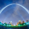 saint louis gateway arch and downtown skyline