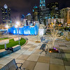 december 27, 2013, charlotte, nc - view of charlotte skyline at night near romare bearden park