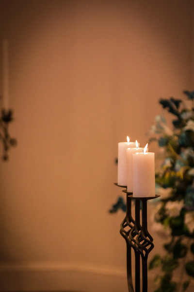 old candles in church