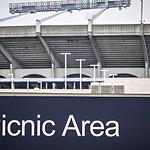 designated cookout picnic area next to nfl football stadium