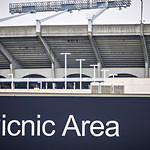 designated cookout picnic area next to nfl football stadium