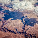 aerial fly over grand canyon arizona mountains