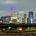 houston texas skyline and downtown