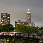 houston texas skyline and downtown