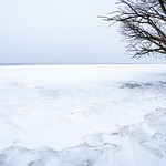 bear lake michigan frozen in spring month of march