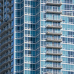 modrn skyscraper condominiums buildig in the city