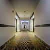 empty modern hotel hallway