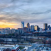 sunset over city of charlotte nc