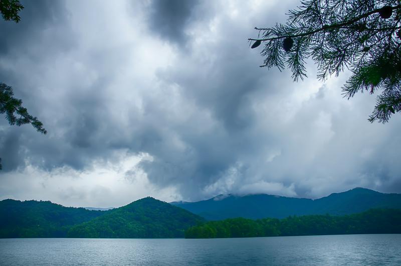 lake santeetlah in great smoky mountains north carolina