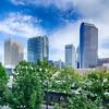 Financial skyscraper buildings in Charlotte North Carolina USA