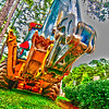 Wheel loader Excavator with backhoe
