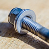 screw nut and bolt closeup