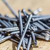 pile of nails macro
