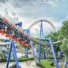 rollercoaster rides at an amusement park