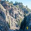 Road trough the Rocky Mountains in Colorado USA