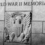 United States Seal carved into stone at the World War Two Memorial in Washington DC