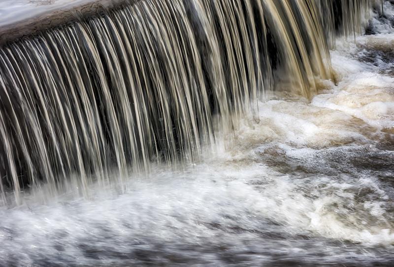 waterflow waterfall on a small creek