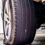 flat rear truck tire