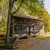 historic old log cabin in brattonsville south carolina