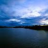 aerial view over catawba river in gaston county north carolina