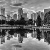 charlotte north carolina city skyline reflections