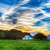 farmland at sunset in york south carolina