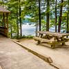 Log cabin surrounded by the forest at lake santeetlah north carolina usa