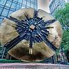 sculpture in uptown charlotte grande disk