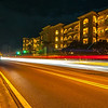 street scene near hotels in destin florida at night