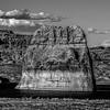 Lone Rock in Lake Powell Arizona USA