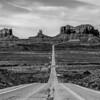 descending into Monument Valley at Utah  Arizona border