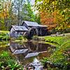 Virginia's Mabry Mill on the Blue Ridge Parkway in the Autumn season
