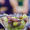 grapes in crystal dish