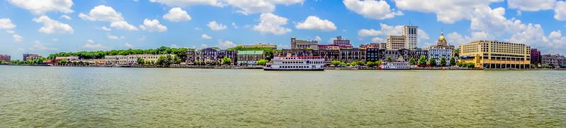 savannah georgia waterfront scenes