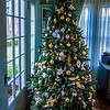 vintage christmas tree in a living room