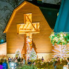 visitors viewing live nativity play during christmas